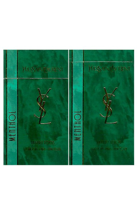 BOX YVES SAINT LAURENT LUXURY 100's MENTHOL R J REYNOLDS TOBACCO USA