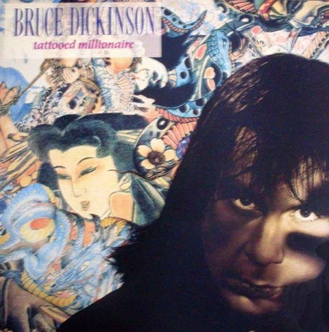 LONG PLAY BRUCE DIKINSON TATTOOED MILLIONAIRE 1990 GRAV EMI MUSIC