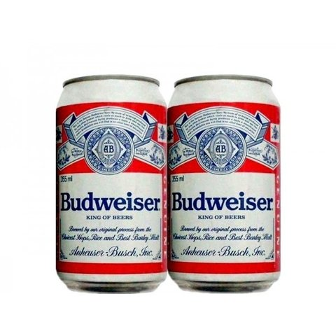 LATA BUDWEISER KING OF BEERS 355 ML ALUMINIO USA
