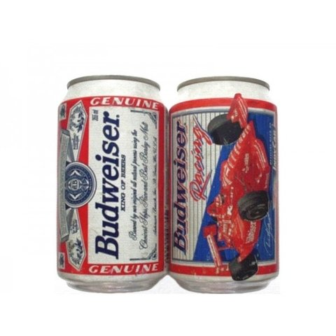 LATA BUDWEISER RACING 355 ML ALUMINIO USA