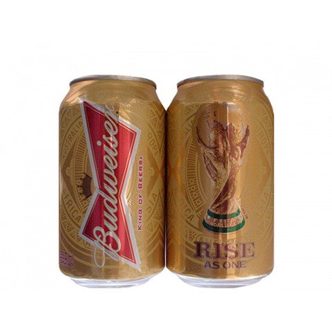LATA BUDWEISER RISE AS ONE COPA 2014 350 ML ALUMÍNIO BRAZIL