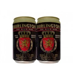 LATA VAZIA BURLINGTON FINE BLACK BEER 355 ML ALUMÍNIO USA