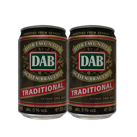 LATA DAB TRADITIONAL DARK BEER 330 ML ALUMINIO GERMANY