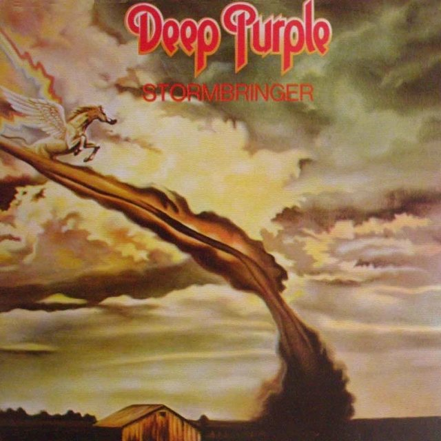 LONG PLAY DEEP PURPLE STORMBRINGER 1974 GRAV EMI PURPLE RECORDS