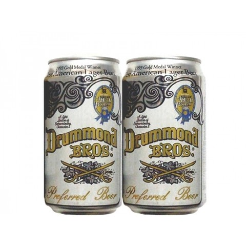LATA DRUMMOND BROS LAGER 355 ML ALUMINIO USA