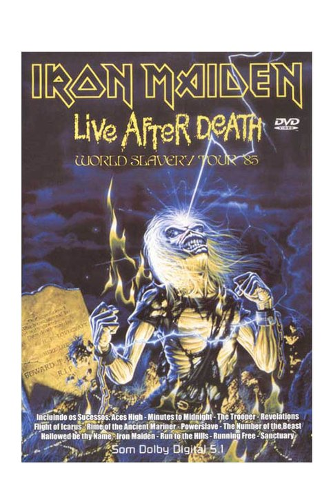 DVD IRON MAIDEN LIVE AFTER DEATH 2000 ORIGINAL GRAV EDITORA D+T BRAZIL