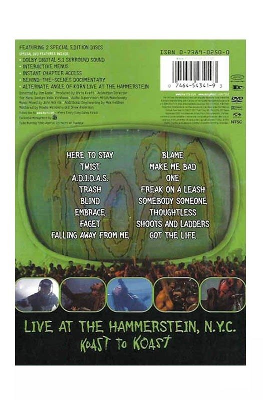 DVD KORN LIVE AT HAMMERSTEIN 2002 ORIGINAL DUPLO GRAV EPIC RECORDS USA - comprar online