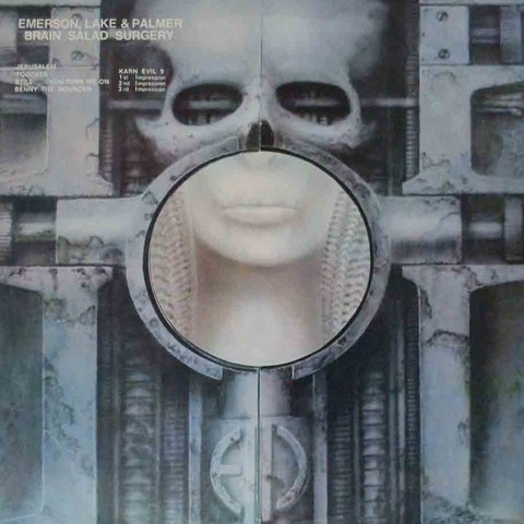 LONG PLAY E. L. PALMER BRAIN SALAD SURGERY 1979 REEDIÇÃO GRAV ATLANTIC RECORDS