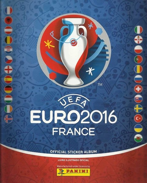 ÁLBUM UEFA EURO 2016 FRANCE NOVO CAPA NORMAL C/ 55 FIGURINHAS