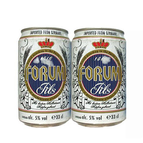 LATA FORUM PILS 330 ML LATA DE FERRO GERMANY