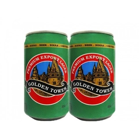 LATA GOLDEN TOWER PREMIUM LAGER 330 ML FERRO HOLLAND - comprar online