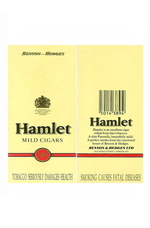 CARTEIRA HAMLET MILD 5 CIGARS BENSON & HEDGES LTD ENGLAND