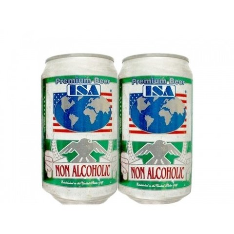 LATA ISA NON ALCOHOLIC 355 ML ALUMINIO USA