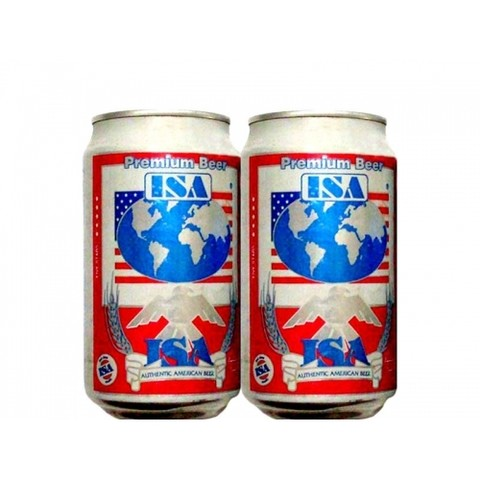 LATA ISA PREMIUM BEER 355 ML ALUMINIO USA