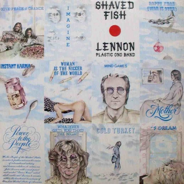 LONG PLAY JOHN LENNON SHAVED FISH 1985 GRAV APPLE RECORD