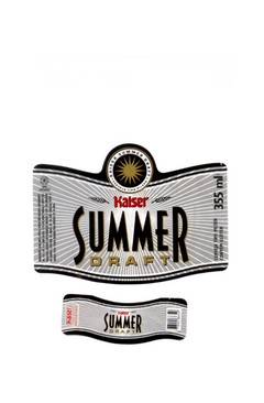 ROTULO KAISER SUMMER DRAFT 355 ML BRAZIL