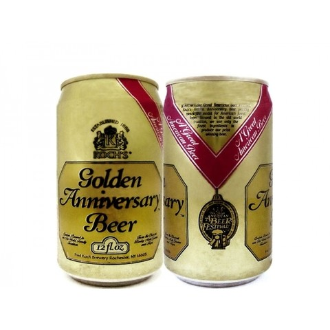 LATA KOCH'S GOLDEN ANNIVERSARY BEER 355 ML ALUMÍNIO USA