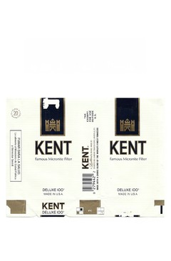 MAÇO KENT FILTER DELUXE 100's BROWN & WILLINSON TOBACCO USA