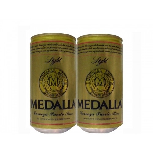 LATA MEDALLA LIGHT 296 ML ALUMÍNIO PUERTO RICO