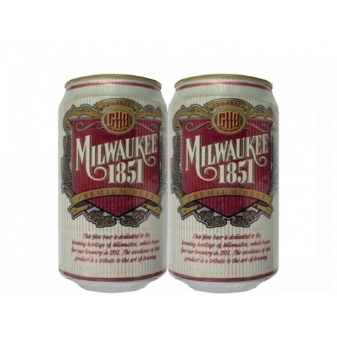 LATA MILWAUKEE 1851 PREMIUM BEER 355 ML ALUMÍNIO USA