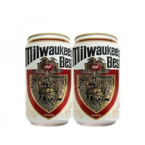 LATA MILWAUKEE'S BEST BEER 355 ML ALUMINIO USA