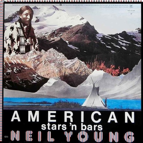 LONG PLAY NEIL YOUNG AMERICAN STAR 'N BARS 1977 GRAV WARNER REPRISE RECORDS