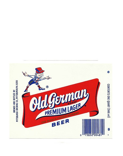 ROTULO OLD GERMAN PREMIUM LAGER 946 ML USA