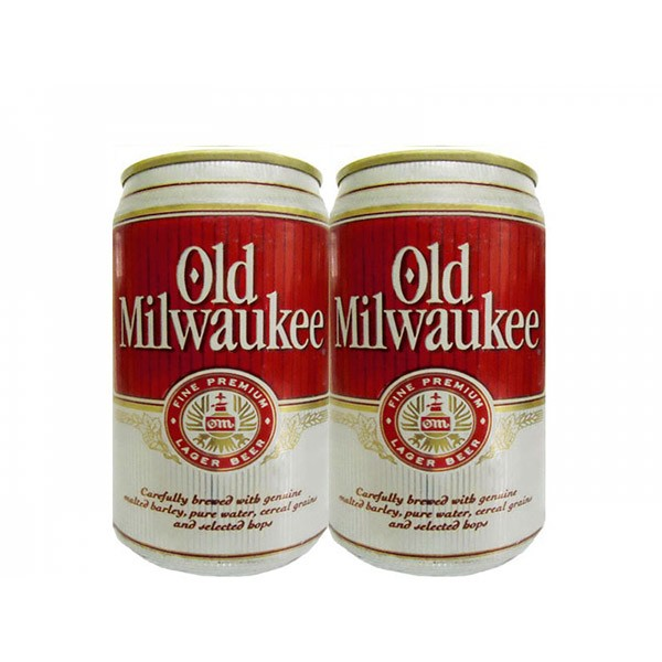 LATA OLD MILWAUKEE PREMIUM BEER 355 ML ALUMINIO USA