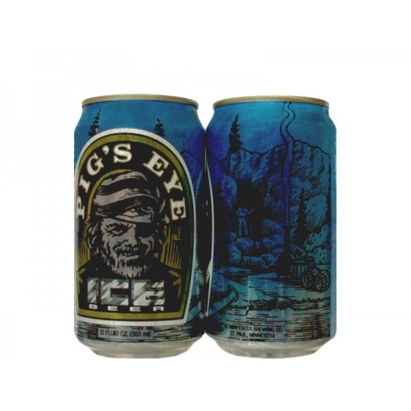 LATA PIG'S EYE ICE BEER 355 ML ALUMÍNIO USA