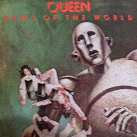 LONG PLAY QUEEN NEW OF THE WORLD 1977 GRAV EMI-ODEON ORIGINAL