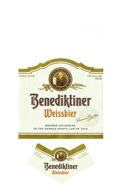 ROTULO BENEDIKTINER WEISSBIER 500 ML GERMANY