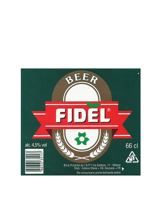 ROTULO FIDEL BEER 66 CL ITALY