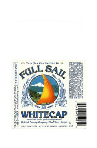 ROTULO FULL SAIL WHITECAP BEER 355 ML USA