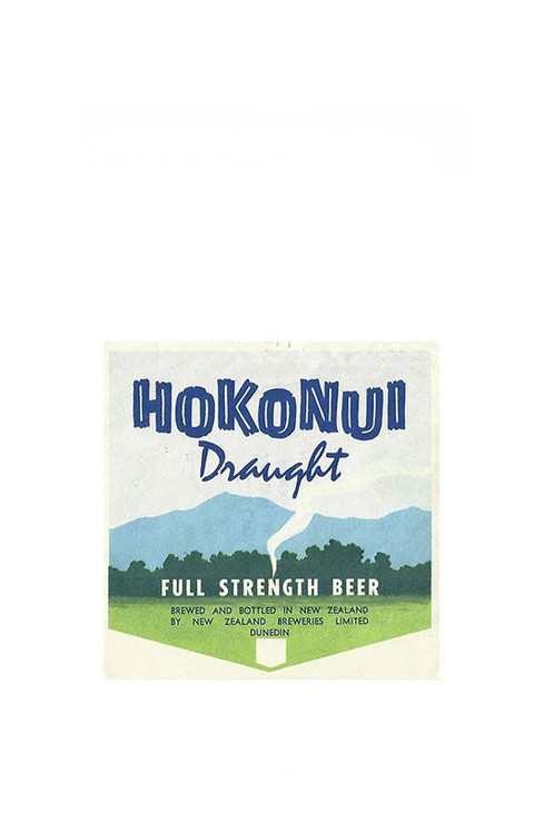ROTULO HOKONUI DRAUGHT FULL STRENGTH BEER NEW ZEALAND