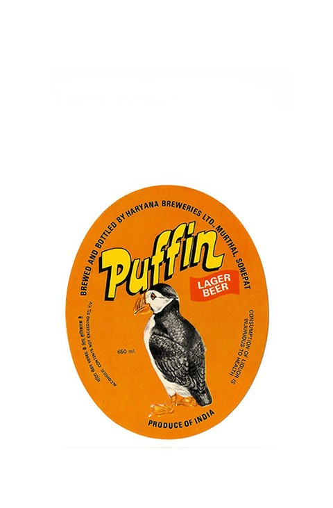 ROTULO PUFFIN LAGER BEER 650 ML INDIA