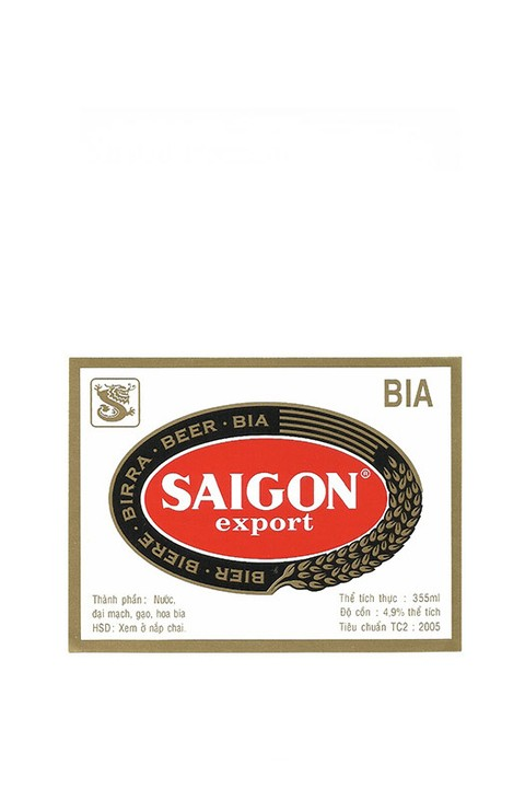 ROTULO SAIGON EXPORT BIA 355 ML VIETNAM