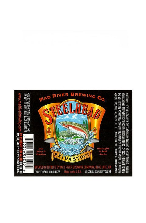 ROTULO STEELHEAD EXTRA STOUT 12 OZ. USA