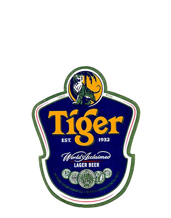 ROTULO TIGER LAGER BEER 600 ML THAILAND - comprar online