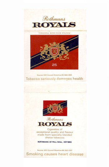 BOX ROTHMANS ROYALS 25 CIGAR ROTHMANS OF PALL MALL ENGLAND