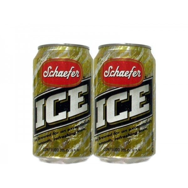 LATA SCHAEFER ICE BEER 355 ML ALUMÍNIO USA