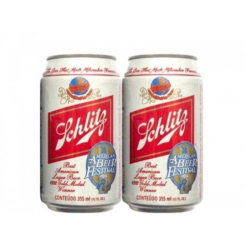LATA SCHLITZ BEST LAGER BEER 355 ML ALUMINIO USA