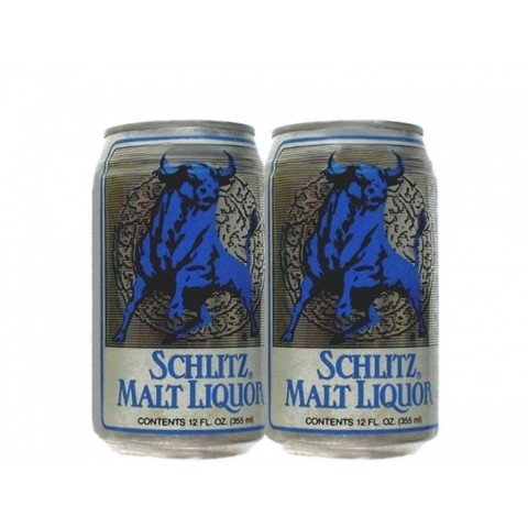 LATA SCHLITZ MALT LIQUOR 355 ML ALUMINIO USA