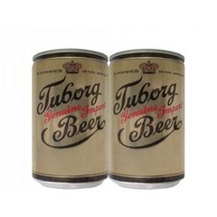LATA TUBORG GENUINE IMPORT BEER 330 ML ALUMÍNIO BOCA LARGA DENMARK