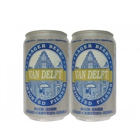 LATA VAN DELFT LAGER BEER 330 ML ALUMINIO HOLLAND