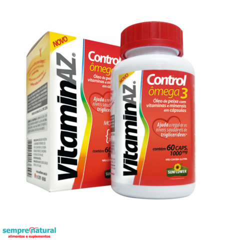 Vitamina AZ Control Ômega 3 60 Cáps 1000mg - Sunflower