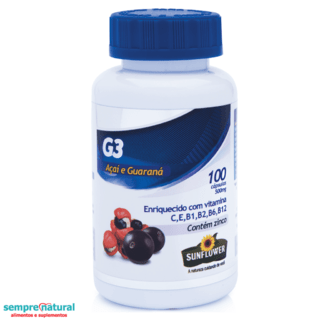 G3 - Açai com Guaraná 100 Cáps -  Sunflower