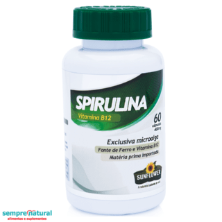Spirulina 500mg - 60 Cáps - Sunflower