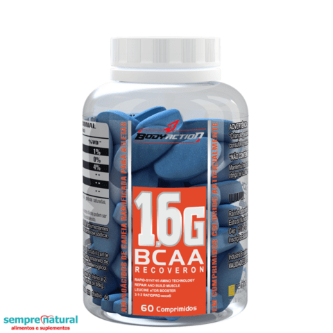 BCAA 1.6 - 60 Cápsulas Body Action