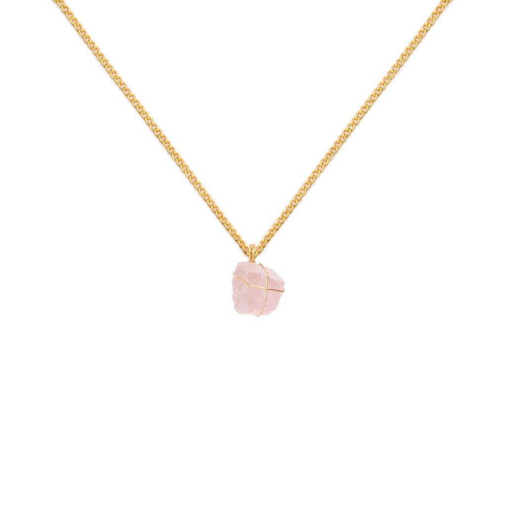 1f573c35294d Collar cadena oro Cuarzo rosado - Comprar en WISH