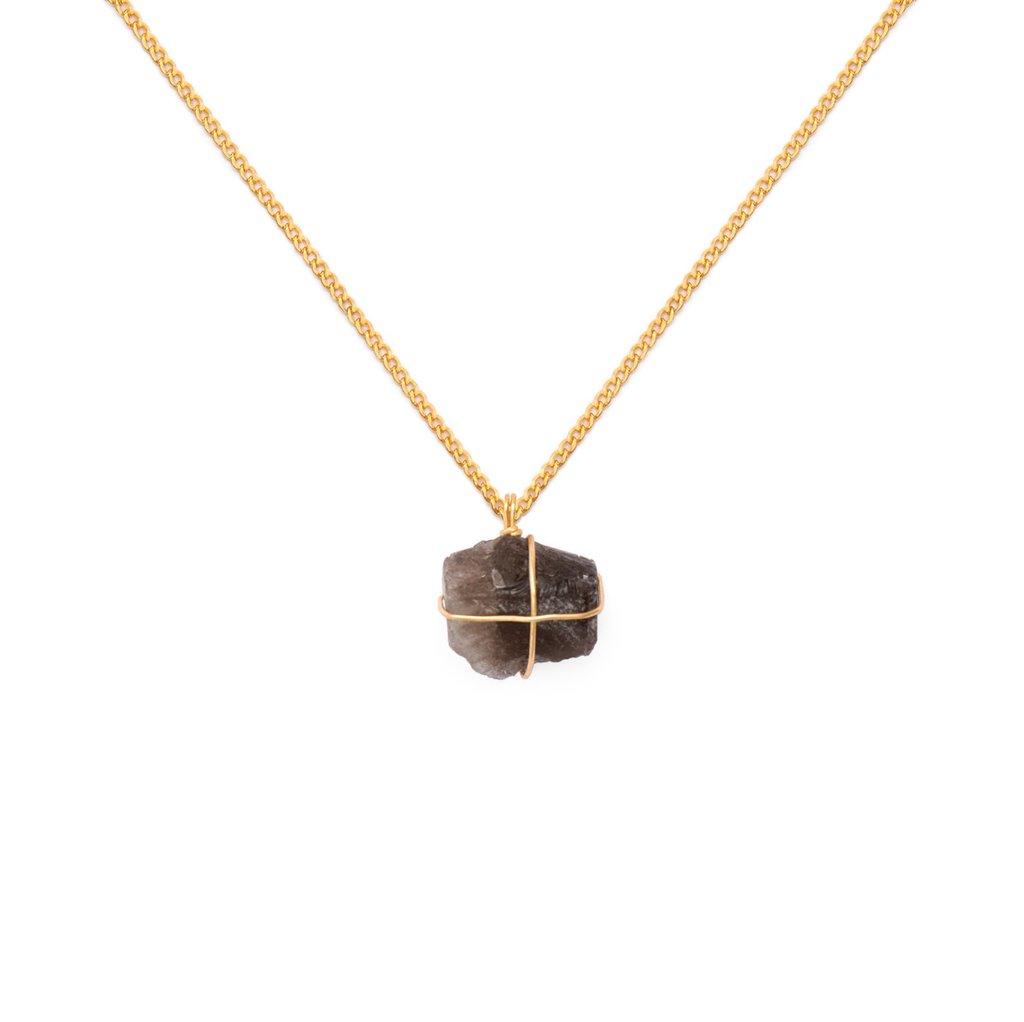 ccdbfbc05e01 Collar cadena oro Cuarzo ahumado - Comprar en WISH